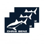 CHRIS BENZ Sticker (blue/large)