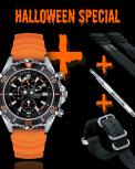 CHRIS BENZ DEPTHMETER CHRONOGRAPH 300M Halloween Special Set
